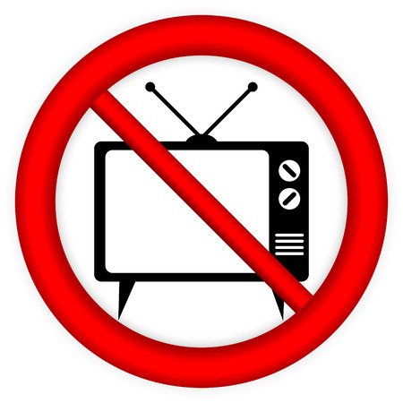 No TV sign on white background - vector illustration. Vector