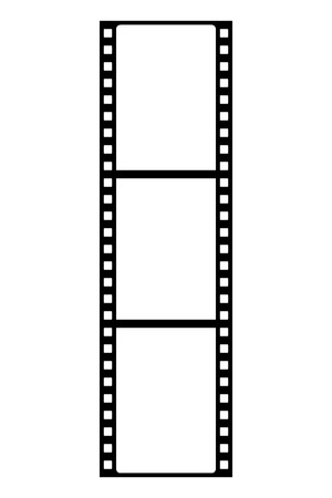 Film strip icon on white background. Vector
