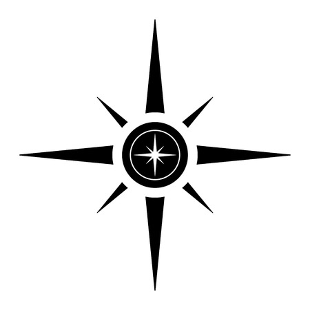 Compass icon on white background. Vector