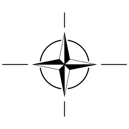 treaty: North Atlantic Treaty Organization sign icon.