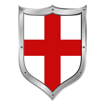 England flag button on a white background illustration. Vector