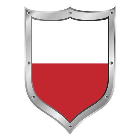 Poland flag button on a white background. Vector illustration. Vector