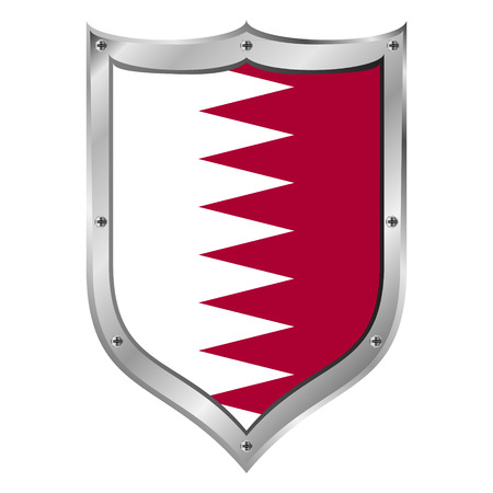 Qatar flag button on a white background. Vector illustration. Stock Vector - 28769991