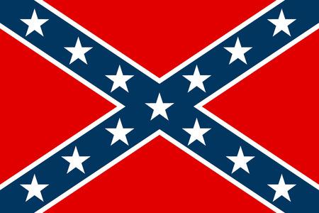 Bandera nacional de los Estados Confederados de América - ilustración vectorial.
