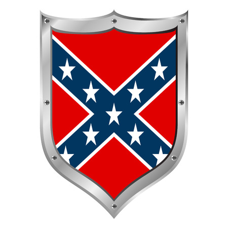 confederation: National flag of the Confederate States of America button - vector illustration.