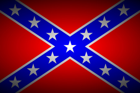 social history: National flag of the Confederate States of America - vector illustration.
