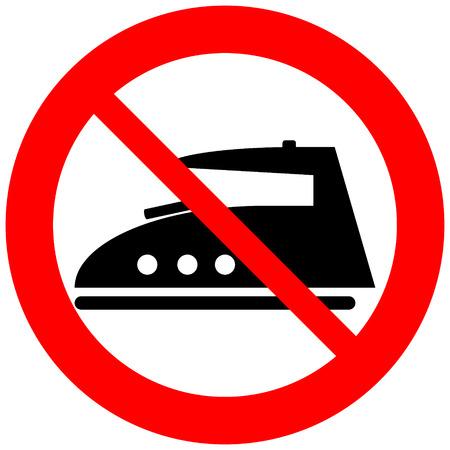 plancha de vapor: Icono del hierro de vapor en el fondo blanco.