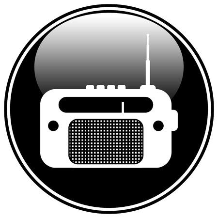 am radio: Radio button on white background. Illustration
