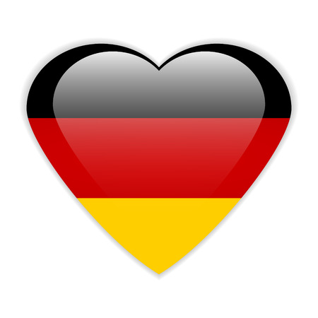 Germany button flag sign or badge for website. Vector