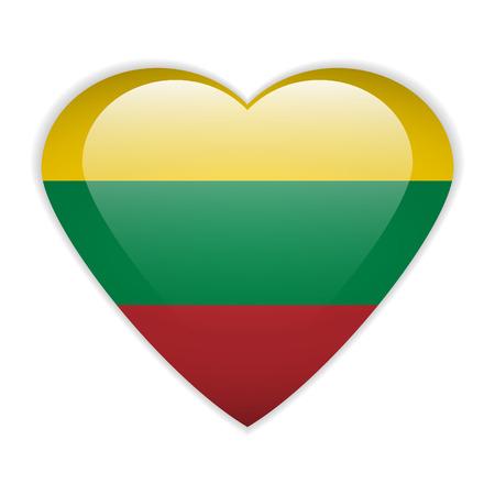 lithuania flag: Lithuania flag button on a white background.