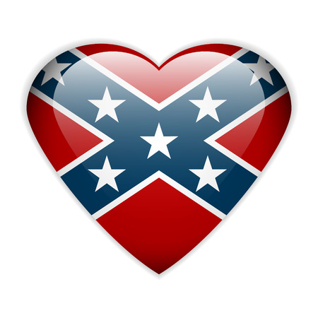 Drapeau national des États confédérés d'Amérique bouton - illustration vectorielle. Banque d'images - 29119782