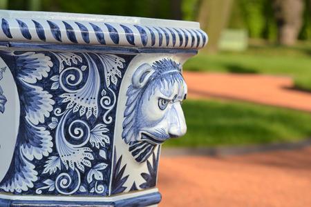 Vase detail in renovated Summer garden, St.Petersburg, Russia. Stock Photo - 29119967