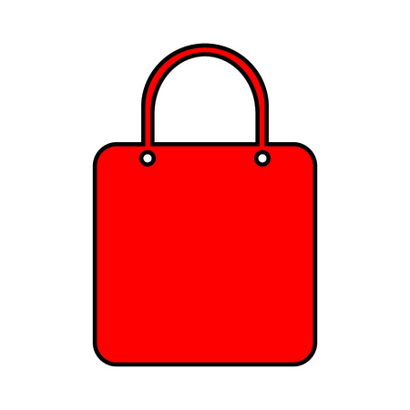 Shopping bag icon on white background. Stock Vector - 29184992