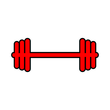 Barbell icon on white background. Vector