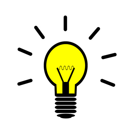 Light bulb icon on white background.
