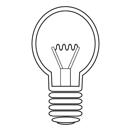 filament: Light bulb icon on white background.