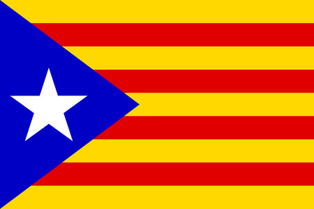 catalonia: Flag of Catalonia. Vector illustration. Illustration