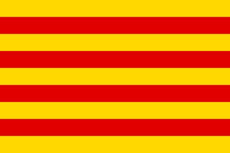 catalonia: Flag of Catalonia. Vector illustration. Illustration