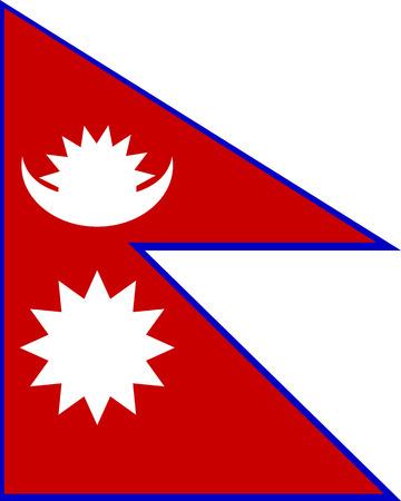 Flag of Nepal. Vector illustration.