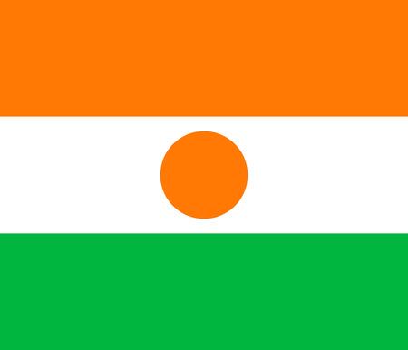 niger: Flag of Niger. Vector illustration. Illustration