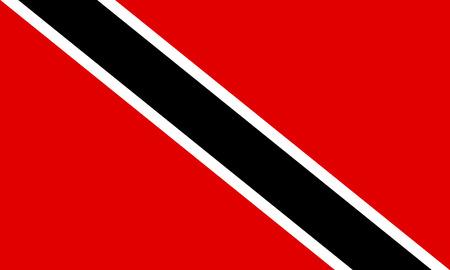 trinidad: Flag of Trinidad and Tobago. Vector illustration.
