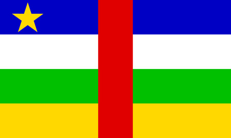 central african republic: Flag of Central African Republic. Vector illustration. Illustration