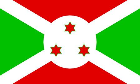 burundi: Flag of Burundi. Vector illustration.