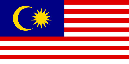 Flag of Malaysia. Vector illustration.