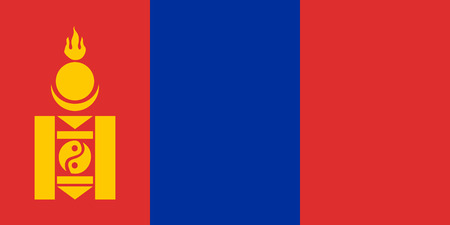 mongolia: Flag of Mongolia. Vector illustration.