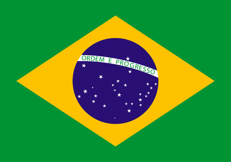 brazil symbol: Flag of Brazil. Vector illustration. The color and size of the original.