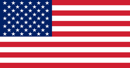 Flag of the United States.  illustration. The color and size of the original.