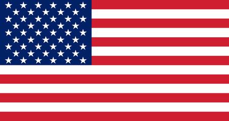 Flagge der Vereinigten Staaten. Abbildung. Die Farbe und die Größe des Originals. Standard-Bild - 29414610