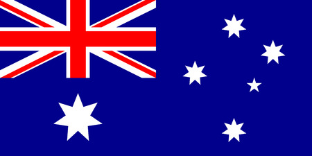 Flag of Australia. illustration. Ilustrace