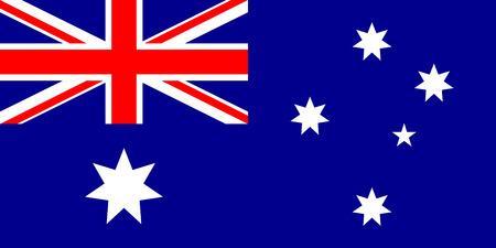 Vlag van Australië. illustratie. Stock Illustratie