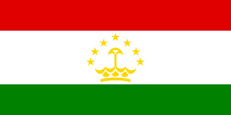 tajikistan: Flag of Tajikistan. illustration.