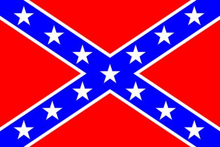 Drapeau national des États confédérés d'Amérique - illustration vectorielle couleurs très lumineuses Banque d'images - 29508593