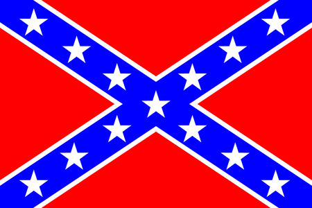 social history: National flag of the Confederate States of America - vector illustration  Very bright colors  Illustration