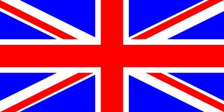 inglese flag: Bandiera del Regno Unito illustrazione vettoriale colori molto vivaci