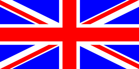 drapeau anglais: Drapeau de l'illustration Royaume-Uni Vector couleurs très lumineuses Illustration