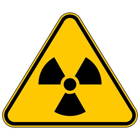 Radiation triangular sign. Vector illustration.