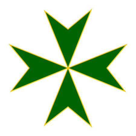 leprosy: Cross of Military and Gospitalersky Order of Saint Lazarus of Jerusalem.