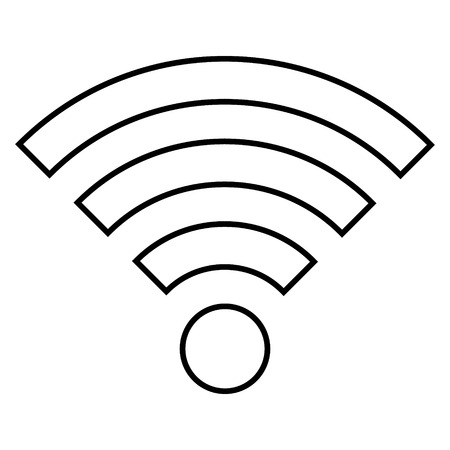 Wi-Fi icon on white background - vector illustration. 向量圖像