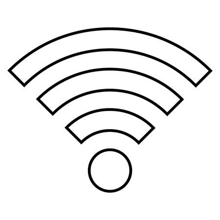Wi-Fi icon on white background - vector illustration. Illustration