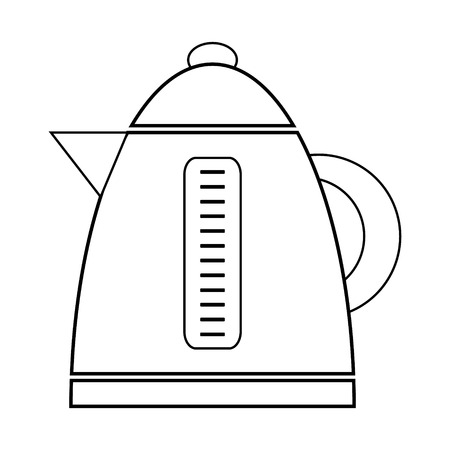 electric kettle: Electric kettle icon on white background.