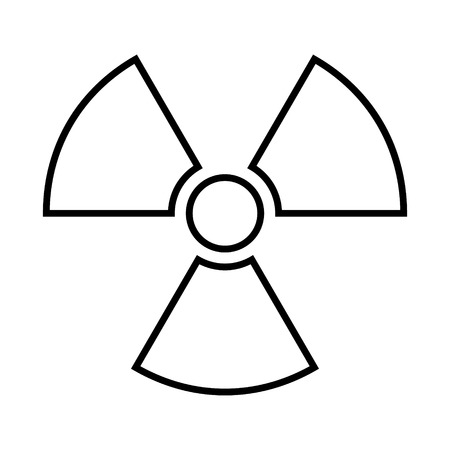 Radiation sign icon. Vector illustration. Vector