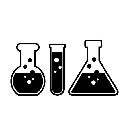 Laboratory glass on white background.