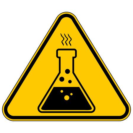 riesgo quimico: Químicos Muestra del peligro en fondo blanco. Ilustración del vector. Vectores