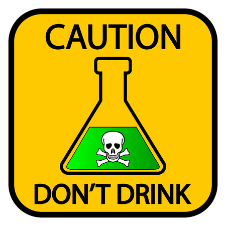 caution chemistry: Danger chemicals sign on white background. Vector illustration. Illustration
