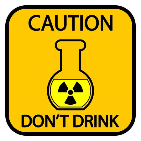 danger of radiation: Danger radiation sign on white background. Vector illustration.