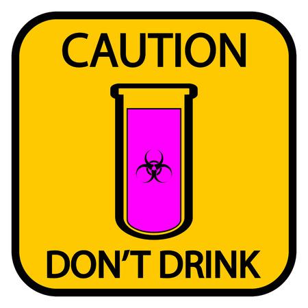 chemical warfare: Danger biohazard sign on white background. Vector illustration.